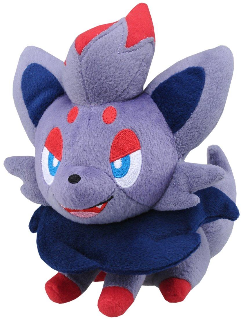 Pokemon: Best Wishes! (Schwarz + Weiß) Stofftier - Plüsch Figur: Zorua (lachend) 20 cm (T.T.)
