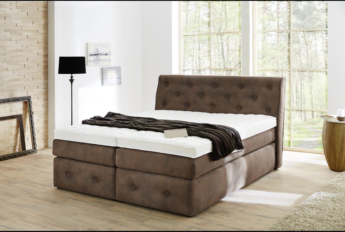 Kasper-Wohndesign Cama con somier para Cama de Tundra 180 x 200 cm Color marrón: Amazon.es: Hogar