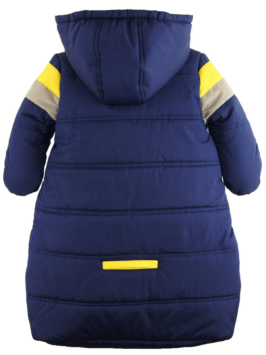 iXtreme Baby Boys Snowsuit Colorblock Stripes Puffer Carbag, Navy, 6-9 Months by iXtreme (Image #3)