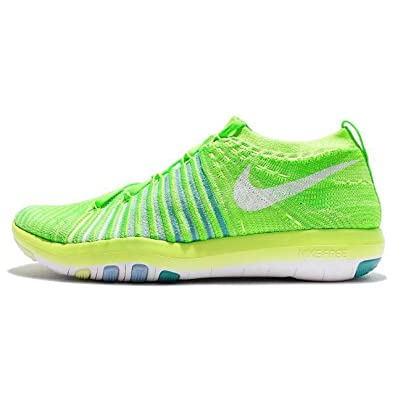 827d7243e9c Nike Womens Free Transform Flyknit 833410 302 Electric Green (5.5)