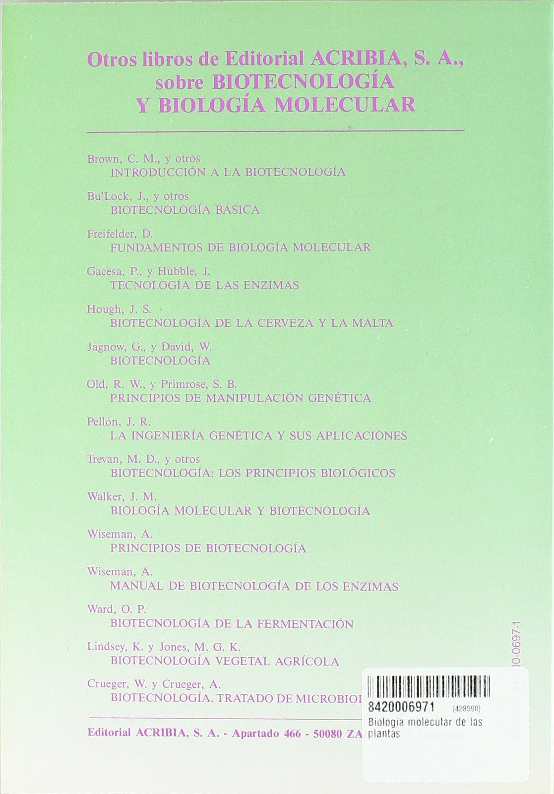 Biología molecular de las plantas: Amazon.es: D. Grierson ...