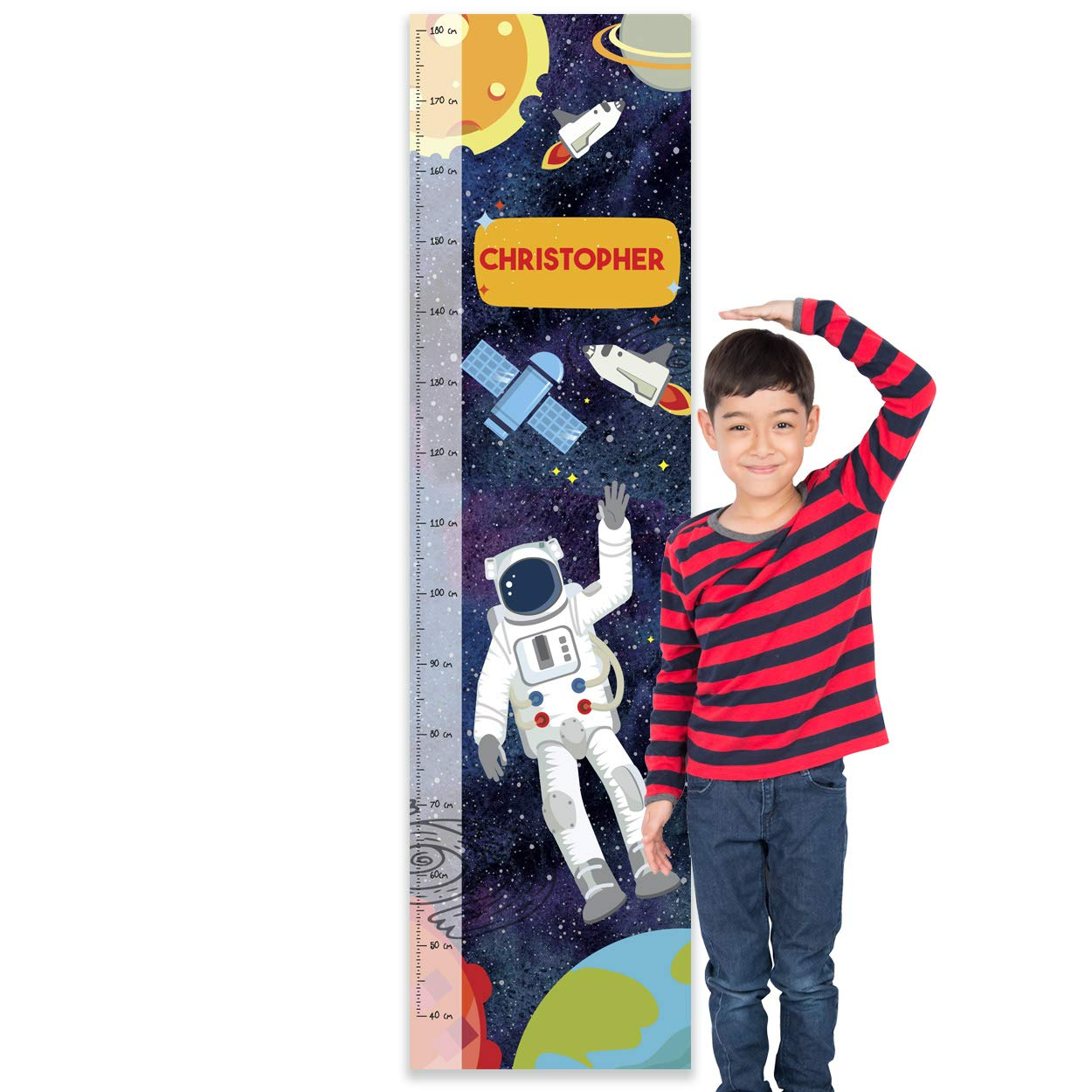 or Bedroom Pirates Paper Themes Personalised Childrens Height Chart for Kids Nursery Wall