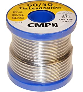 CMP Solder WSP604012501 60/40 Tin/Lead Premium Solder For Stained Glass, 1