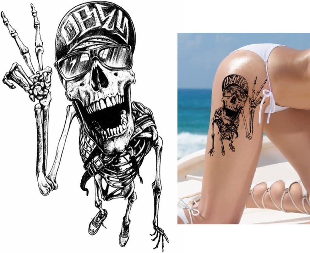 Tattoo temporär brazo Brazo tatuaje pegatinas Calavera Esqueleto ...