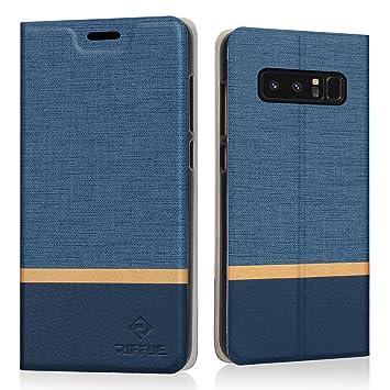 RIFFUE Funda Galaxy Note 8, Carcasa Delgada Libro de Cuero con Tapa Cartera de Ranura y Billetera Elegante Case Cover para Samsung Galaxy Note 8 6.3