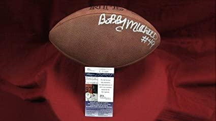 5cf03fdd Bobby Mitchell Autographed Signed Official Wilson NFL Football ...