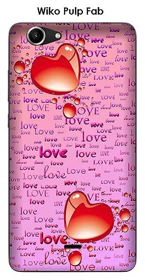 Onozo Carcasa Wiko Pulp Fab diseño 2 corazones, Love sobre ...