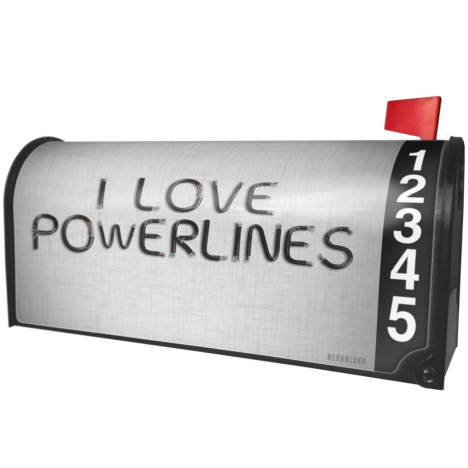 NEONBLOND I Love Powerlines Electronics Wires and Cables Magnetic Mailbox Cover Custom Numbers