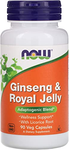 NOW Foods Ginseng Royal Jelly – 90 Capsules