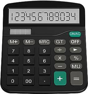 Helect Calculator, Standard Function Desktop Calculator, Black