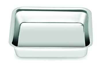 Chef Direct Stainless Steel Square Snack Tray Length 13 Cm X Width 14 Cm //