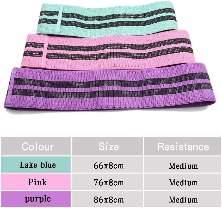 3 Set Sprifloral Resistance Bands for Legs and Butt Anti-Slip Thicken Fabric Loop Exercise Bands for Women Activate Glutes and Thigh Professional Working Out Booty Bands