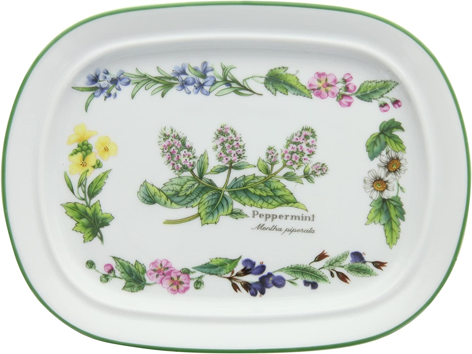 """BOXED WRENDALE LUXURY KITCHEN FINE PORCELAIN CHINA COUNTRY HARE 10/"""" SQUARE DISH"""
