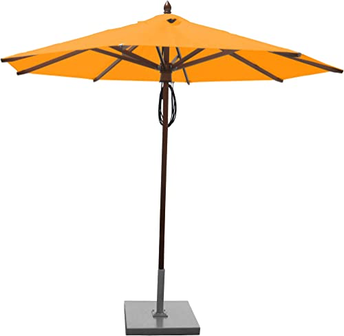 Greencorner Mahogany Octagon Patio Umbrella 9 Foot