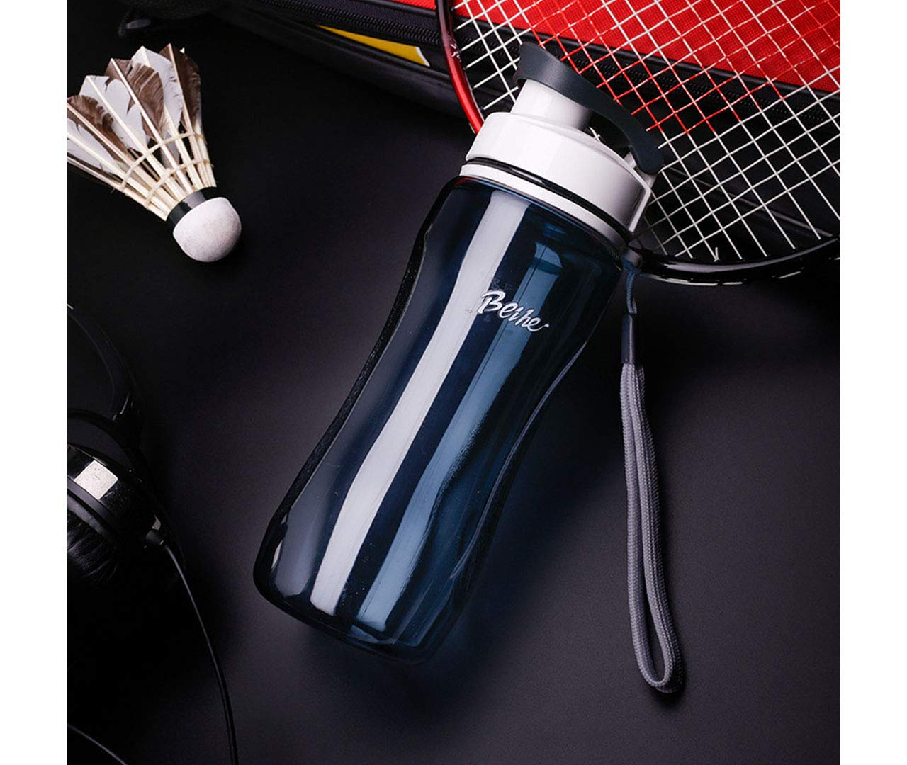 QiLi Sports Water Bottles Reusable Leak Proof Large Capacity Wide Mouth Filtered Cup