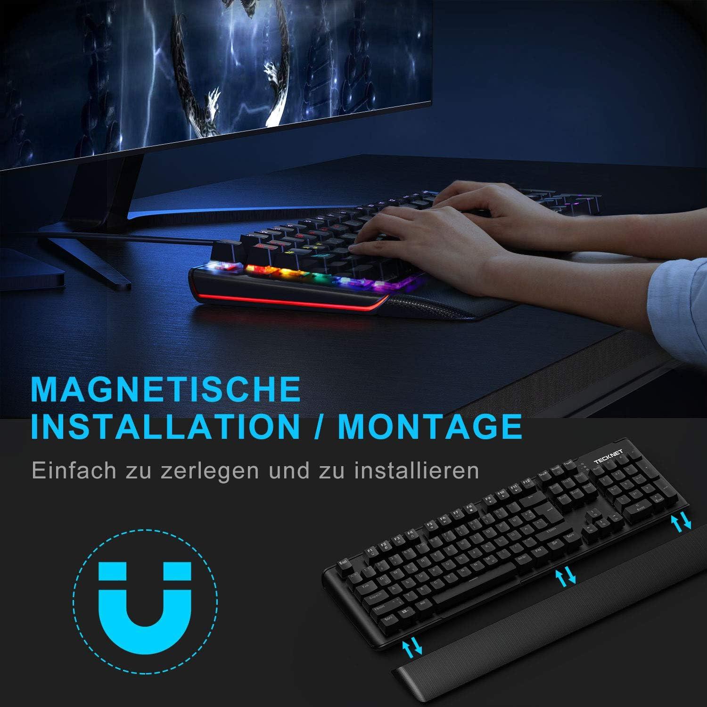 Tecknet - Teclado mecánico para gaming marrón Interruptor ...