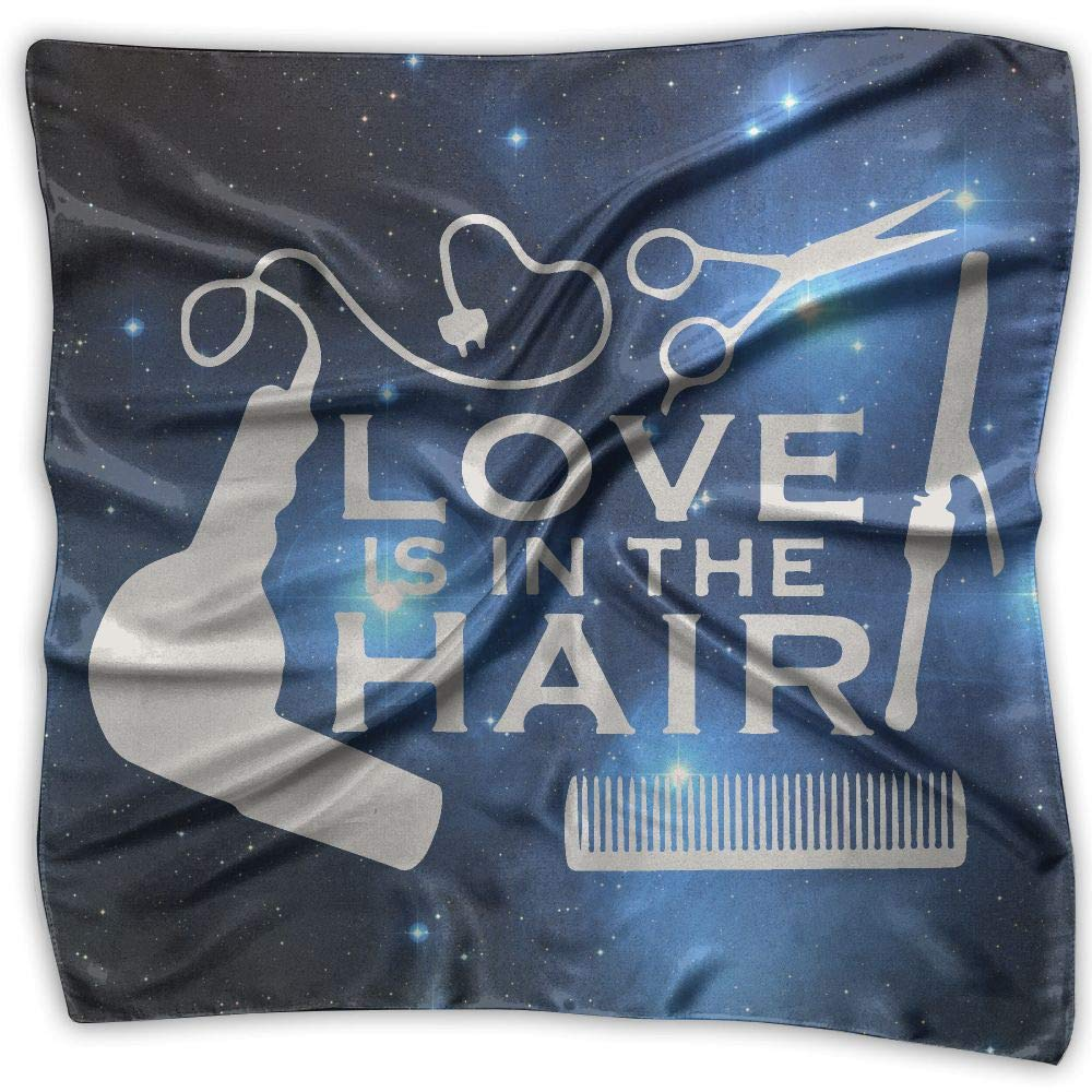 Love Is In The Hair-1 Men Women Silky Scarf Head Wraps Bandana Scarves Set