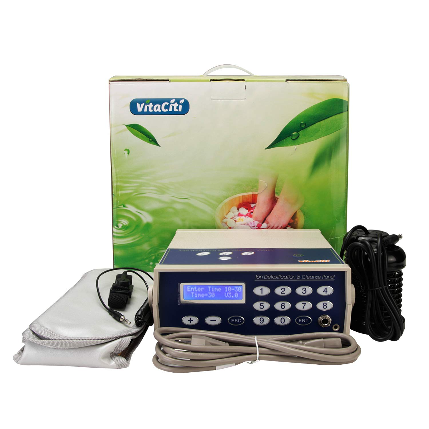 Vitaciti Professional Ionic Detox Foot Bath Spa Chi Cleanse Machine with Two Arrays