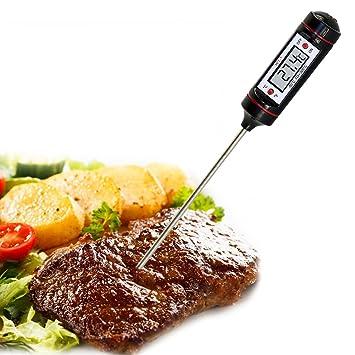 iekon Termómetro Digital de carne - Mejor para barbacoa ...