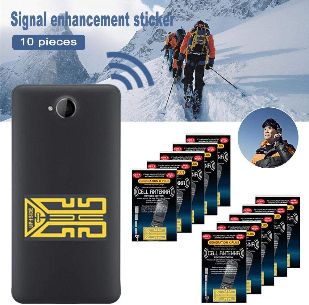 Outdoor Camping for Travel SP-4 Mobile Phone Signal Amplifier Mountain Cell Phone Antenna Boosters 10 Pcs Cellphone Phone Signal Enhancement Signal Antenna Booster Stickers