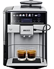 Siemens EQ.6 Plus s700 Kaffeevollautomat (1500 Watt, Keramik-mahlwerk, Touch-Sensor-Direktwahltasten, personalisierte Getränke, Doppeltassenbezug) edelstahl