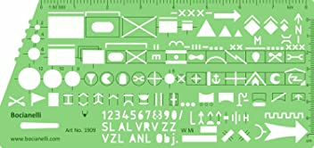 Army Military Tactical Plan Map NATO Marking Symbols Drawing Drafting Template Stencil