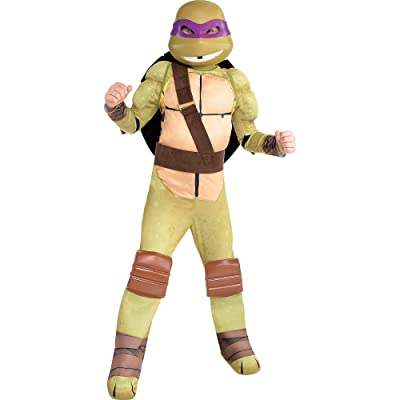 Amscan Teenage Mutant Ninja Turtles Donatello Muscle Halloween Costume for Boys, Small, with Included Accessories: Clothing