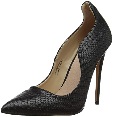 7e034abc059d Lost Ink Women s Abi Curved Topline Court (Wide Fit) Closed Toe Heels