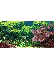Aquatic Creations Static Cling Aquarium Background, 24 by 12-Inch, Tropical