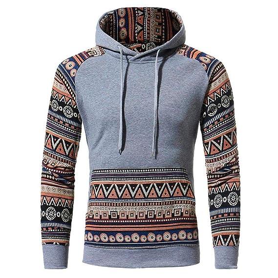 Hommes Hommes Rétro Manches Longues Capuche Hoodies De Sport Sweat-Shirt À Capuche  Vestes Cardigan en Cachemire Pull en Tricot Manteau Outwear Pull avec ... 0488f1bbc777