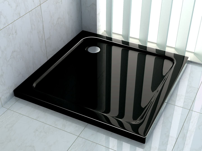 80 x 80 de ducha plato de superficie plana 50 mm Rectángulo negro: Amazon.es: Bricolaje y herramientas