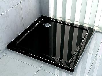 Duschwanne flach preis  50 mm Duschtasse 120 x 120 cm (schwarz): Amazon.de: Baumarkt