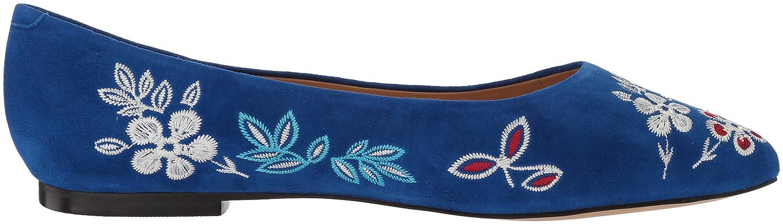 Trotters Women's B073BZQKWL Estee Embroidery Ballet Flat B073BZQKWL Women's 9.5 B(M) US|Blue 90a076