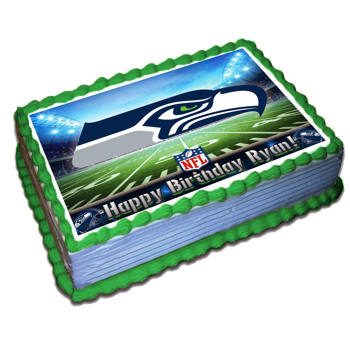 Pleasing Seattle Seahawks Nfl Personalized Cake Topper Icing Sugar Paper 1 Birthday Cards Printable Opercafe Filternl