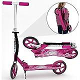 Kinetic Sports Scooter Cityroller Kinderroller Tretroller Klappbar 205 mm XXL Räder in Pink