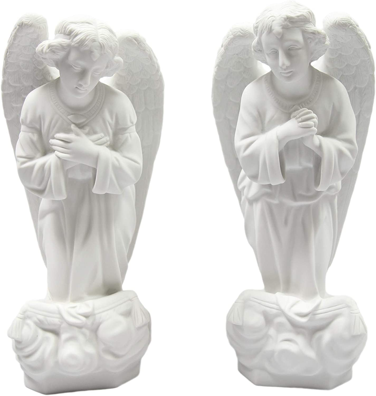 16 Pair Of Kneeling Praying Angels Statue Figurine Vittoria Collection Made In Italy Indoor Outdoor Garden Grotto Home Kitchen