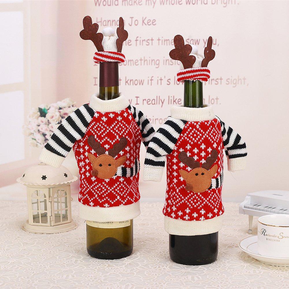 Natale bottiglie per bottiglie busta vino bottiglia per vino birra sekt-bottiglie decorazione natalizia per bottiglie regalo Borsa