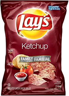 product image for Canadian Lays Ketchup Flavour Chips [1 Large Family Size Bag] by Lay's