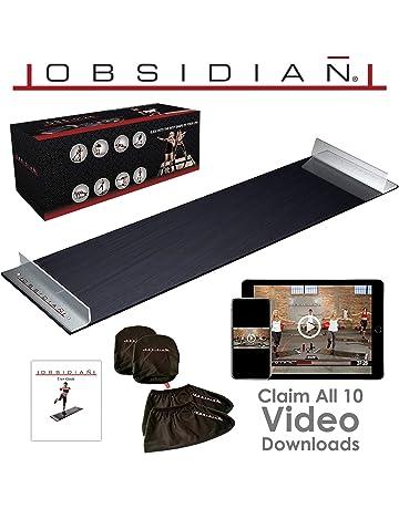 Obsidian Exercise Slide Board - 6 and 5 Foot Slide Board for High Intensity
