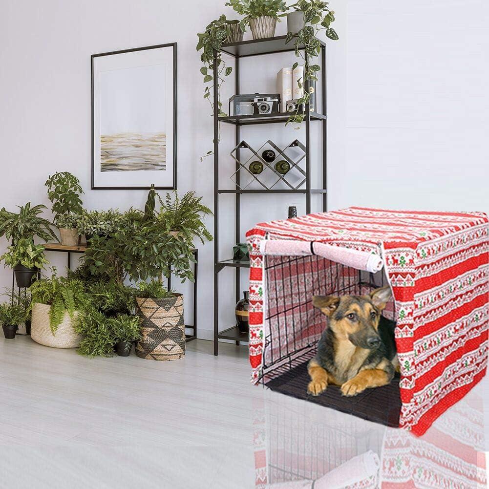 Resistente al Viento Funda para Perro Transpirable para protecci/ón Interior y Exterior de Lino chengsan dise/ño navide/ño