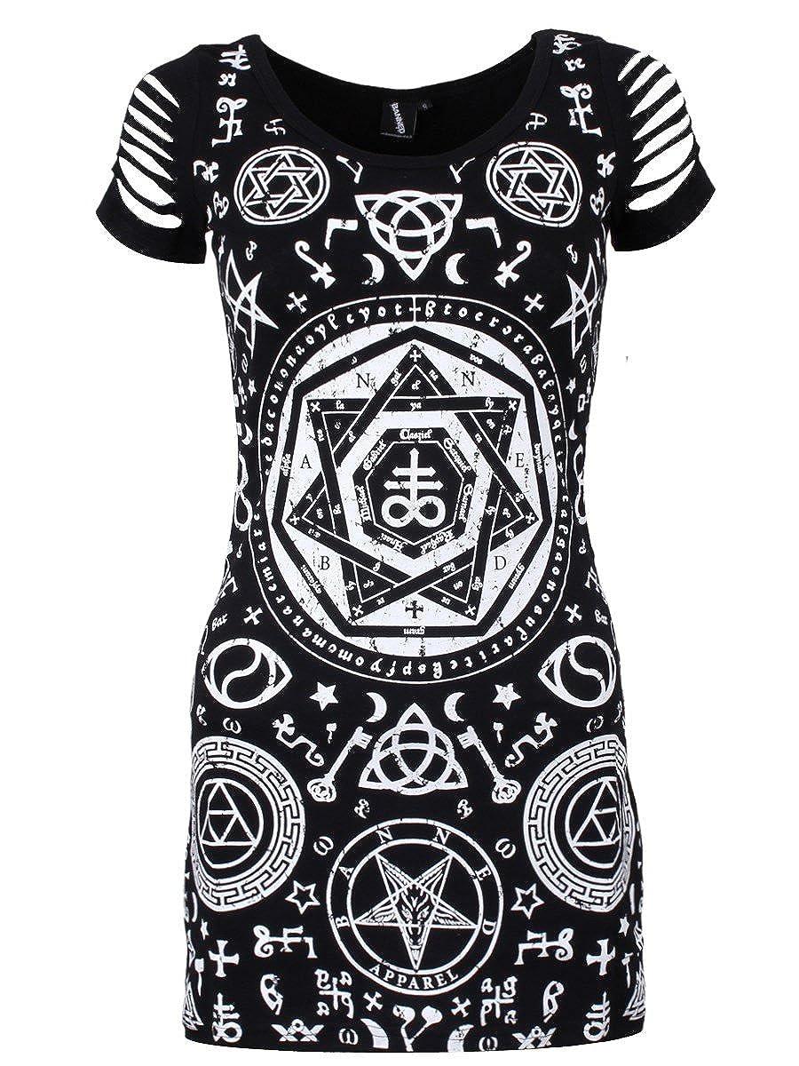 Banned Pentagram Top Black