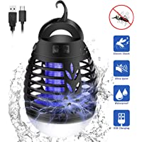 EECOO Insect Killer Electric Flytrap,2-in-1 Mosquito Lamp Camping Lamp LED Lantern, IP66 Waterproof Portable Insect Lamp Tent Lamp,USB Rechargeable for Indoor Outdoor