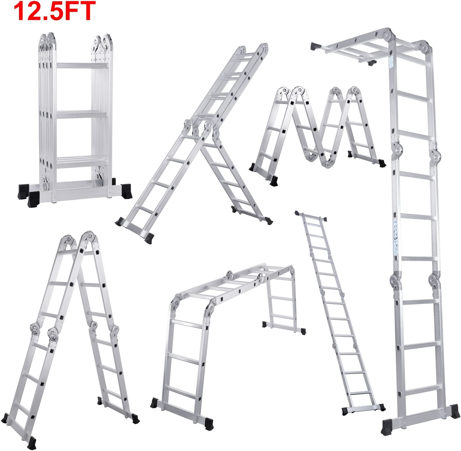 Lifewit Folding 7-in-1 Multi-Function Extendable Ladder