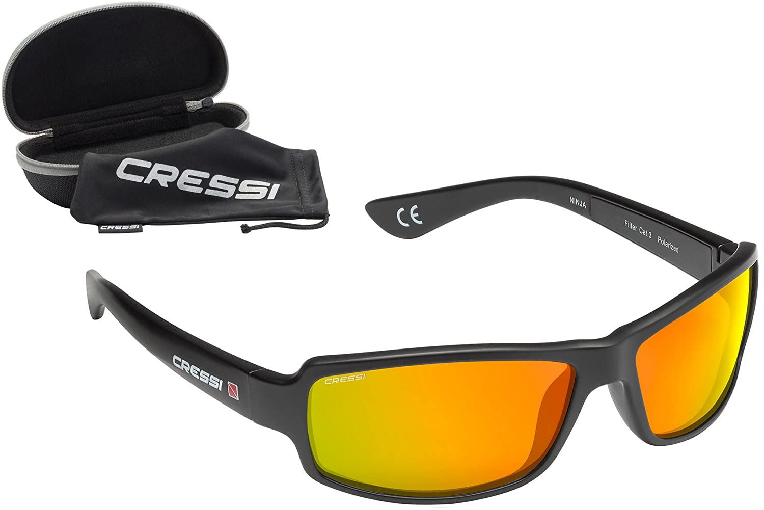 Cressi Sonnenbrillen Ninja Floating Blue with MIRORED Lens - Gafas de Ciclismo