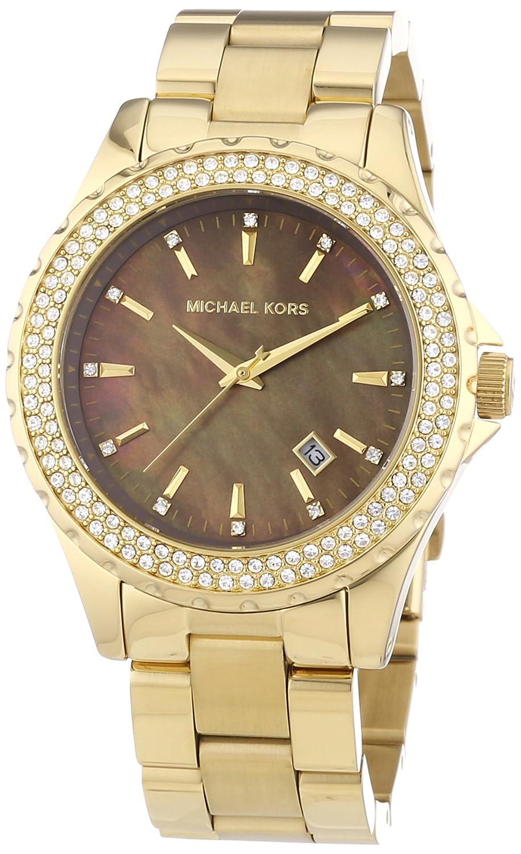 Amazon.com: Michael Kors MK5452 Ladies Jet Set Mop Dial Gold Plated Bracelet Watch: Michael Kors: Watches