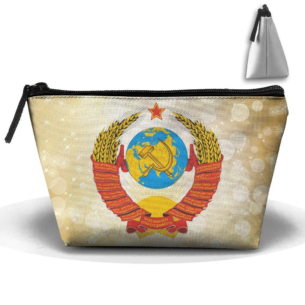 Simoner Soviet Coat Of Arms Large Capacity Storage Bag Makeup Package Trapezoidal