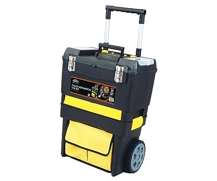 Trolley de herramientas profesional RDM Quality Tools 76907, desmontable, 2 módulos y 7 compartimentos