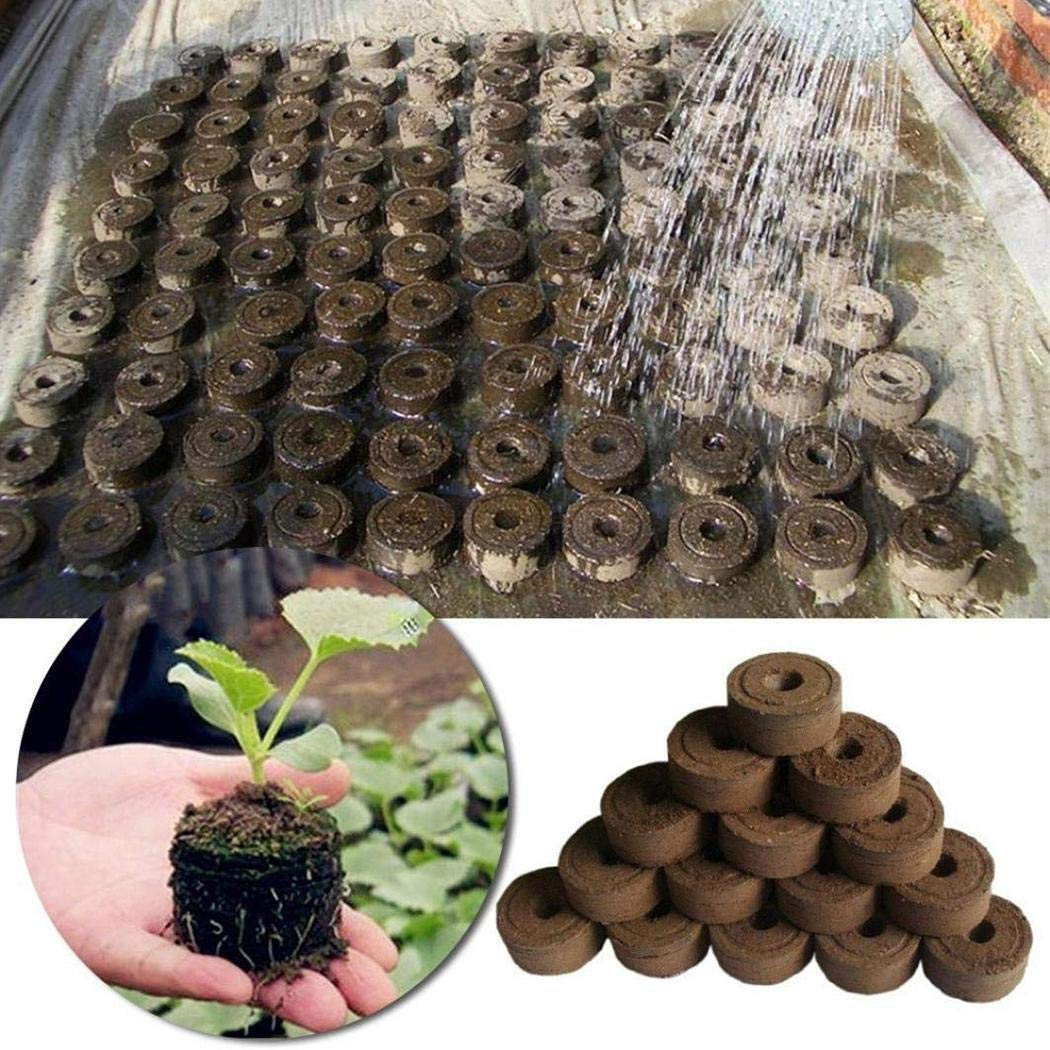 Erholi 3cm Seedling Mud Compression Nutrient Planting Soil Gardening Supplies Garden Soil
