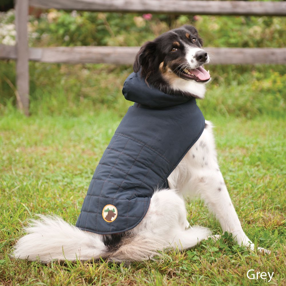 Fashion Pet Outdoor Dog All Weather Quilted, Small, Grey
