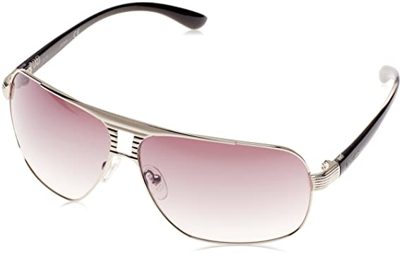 99d933780d Image Unavailable. Image not available for. Color  Aviator Sunglasses by  Guess - GU6512 Q89 - Silver Smoke Gradient Flash